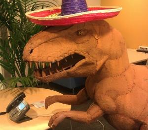 Mozilla Office Dinosaur Statue